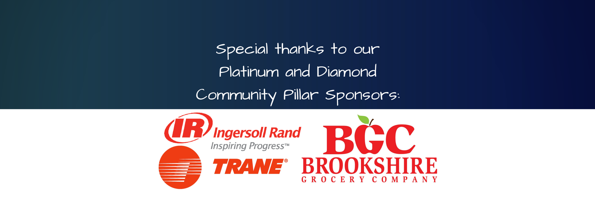 Thank You Platinum Pillar Sponsor